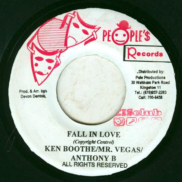 Ken Boothe / Mr. Vegas / Anthony B : Fall In Love | Single / 7inch / 45T  |  Dancehall / Nu-roots