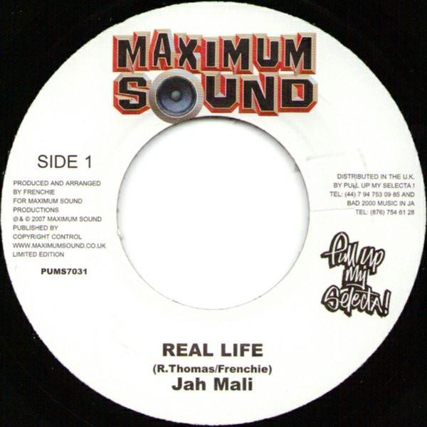Jah Mali : Real Life | Single / 7inch / 45T  |  Dancehall / Nu-roots