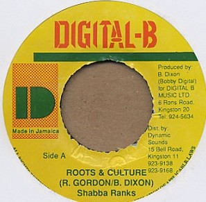 Shabba Ranks : Roots And Culture | Single / 7inch / 45T  |  Dancehall / Nu-roots