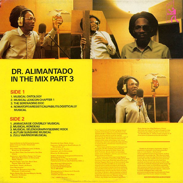 Dr. Alimantado : In The Mix Part 3 | LP / 33T  |  Oldies / Classics