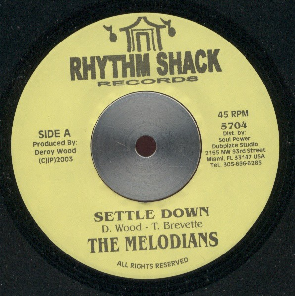 The Melodians : Settle Down | Single / 7inch / 45T  |  Oldies / Classics