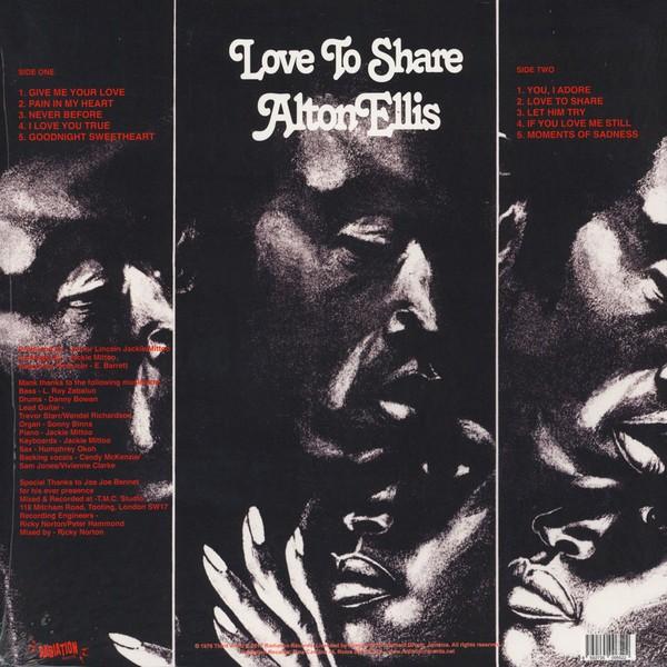 Alton Ellis : Love To Share | CD  |  Oldies / Classics