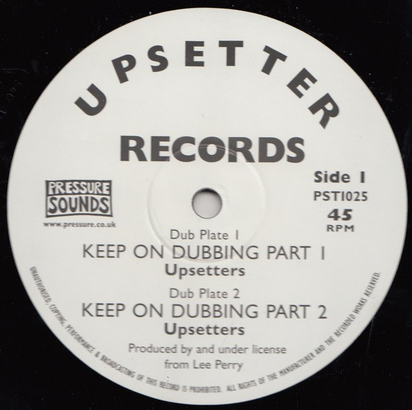 The Upsetters : Keep On Dubbing Part 1 | Maxi / 10inch / 12inch  |  Oldies / Classics