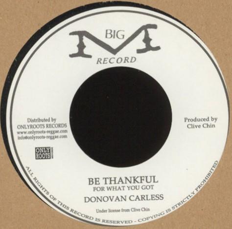 Donovan Carless : Be Thankfull