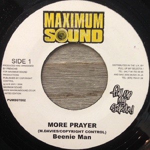 Beenie Man : More Prayer   Single / 7inch / 45T     Dancehall / Nu-roots