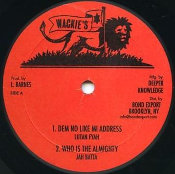 Lutan Fyah : Dem No Like Mi Address   Maxi / 10inch / 12inch     Oldies / Classics