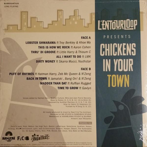 L'Entourloop : Chickens In Your Town | LP / 33T  |  Dancehall / Nu-roots