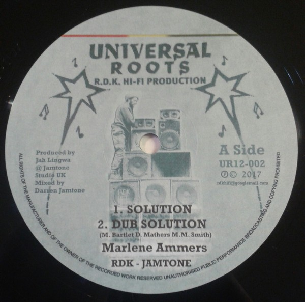 Marlene Ammers : Solution   Maxi / 10inch / 12inch     UK