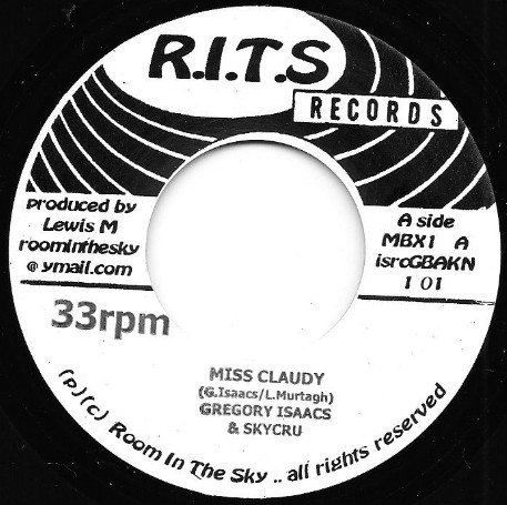 Gregory Isaacs : Miss Claudy | Single / 7inch / 45T  |  Dancehall / Nu-roots