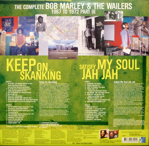 Bob Marley & The Wailers : The Complete Wailers 67-72 Vol 3   LP / 33T     Oldies / Classics