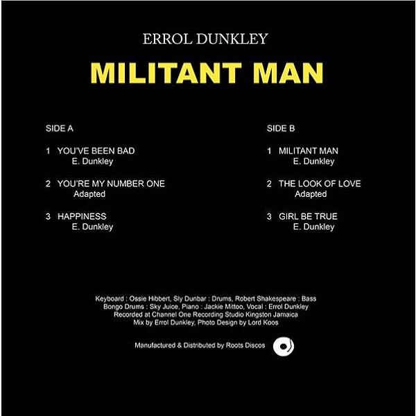 Errol Dunkley : Militant Man   LP / 33T     Oldies / Classics