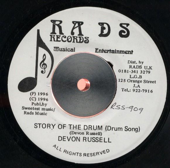 Devon Russel : Story Of The Drum   Single / 7inch / 45T     UK