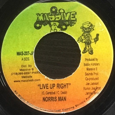 Norris Man : Live Up Right | Single / 7inch / 45T  |  Dancehall / Nu-roots