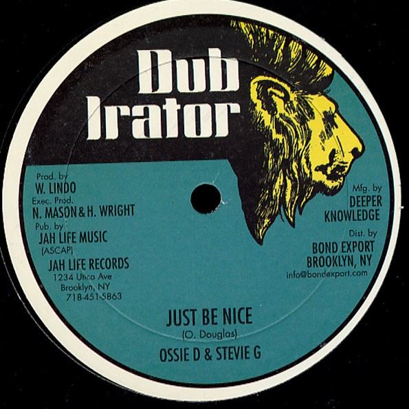 Ossie D & Stevie G : Just Be Nice | Maxi / 10inch / 12inch  |  Oldies / Classics