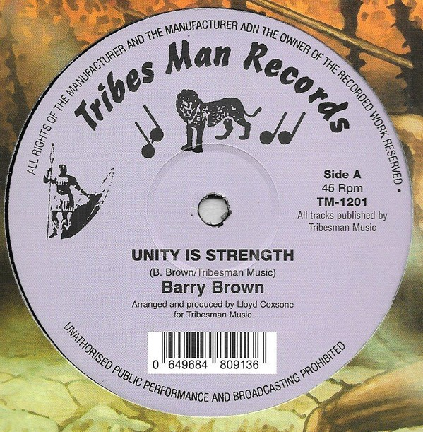 Barry Brown : Unity Is Strength | Maxi / 10inch / 12inch  |  Oldies / Classics