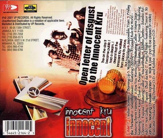 Innocent Kru : Innocent | CD  |  Dancehall / Nu-roots