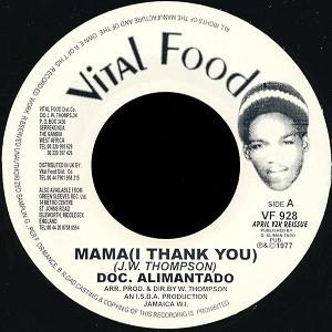 Doc. Alimantado : Mama ( I Thank You )   Single / 7inch / 45T     Oldies / Classics