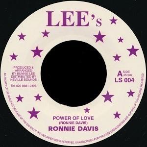 Ronnie Davis : Power Of Love   Single / 7inch / 45T     Oldies / Classics