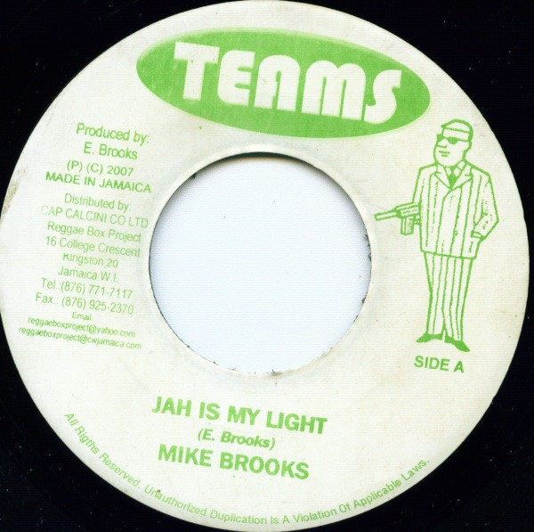 Mike Brooks : Jah Is My Light | Single / 7inch / 45T  |  Oldies / Classics