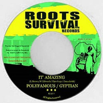 Polly Famous & Gyptian : It's Amazing   Single / 7inch / 45T     Dancehall / Nu-roots