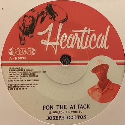 Joseph Cotton : Pon The Attack | Single / 7inch / 45T  |  Dancehall / Nu-roots