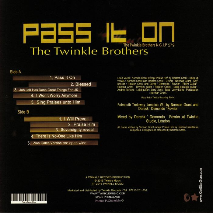 The Twinkle Brothers : Pass It On   LP / 33T     UK