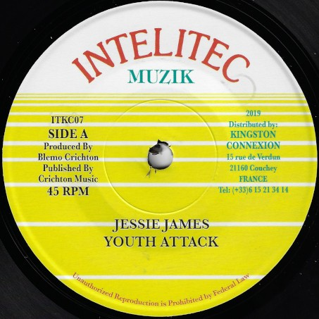 Jessie James : Youth Attack   Single / 7inch / 45T     Oldies / Classics