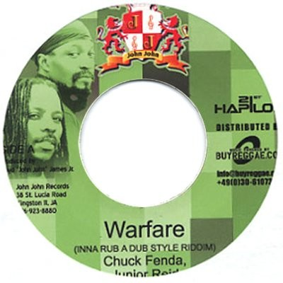 Chuck Fender , Junior Reid : Warfare | Single / 7inch / 45T  |  Dancehall / Nu-roots