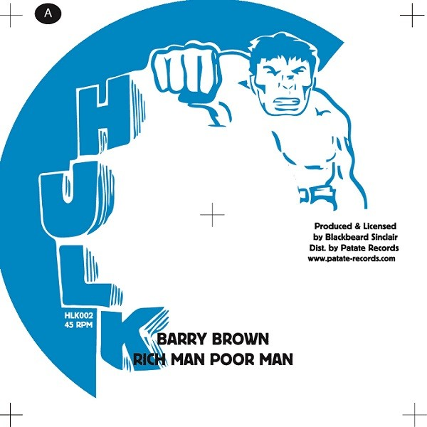 Barry Brown : Rich Man Poor Man | Single / 7inch / 45T  |  Oldies / Classics