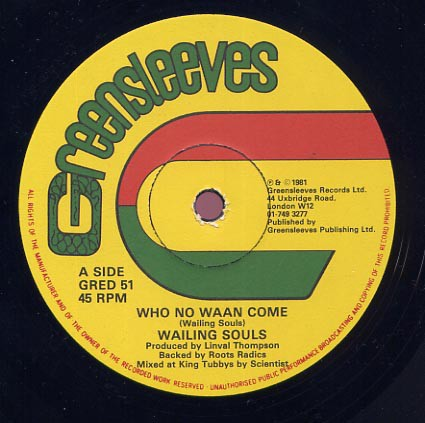 Wailing Souls : Who No Waan Come   Maxi / 10inch / 12inch     Oldies / Classics