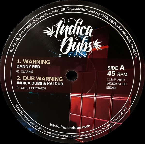 Danny Red : Warning | Maxi / 10inch / 12inch  |  UK