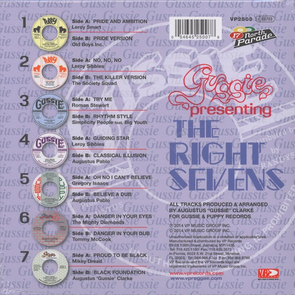 Gussie : Presenting The Right Sevens | Single / 7inch / 45T  |  Oldies / Classics