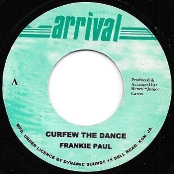 Frankie Paul : Curfew In The Dance   Single / 7inch / 45T     Dancehall / Nu-roots