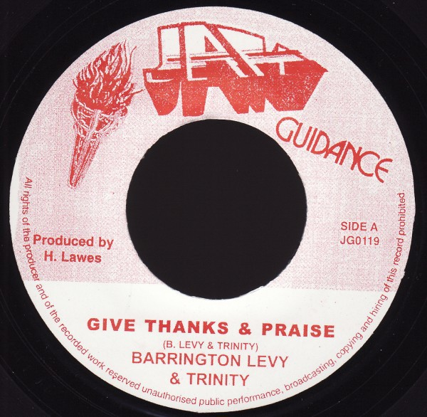 Barrington Levy & Trinity : Give Thanks And Praise | Single / 7inch / 45T  |  Oldies / Classics