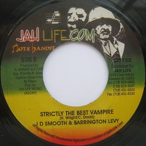 Jd Smooth & Barrington Levy : Strictly The Best Vampire | Single / 7inch / 45T  |  Oldies / Classics