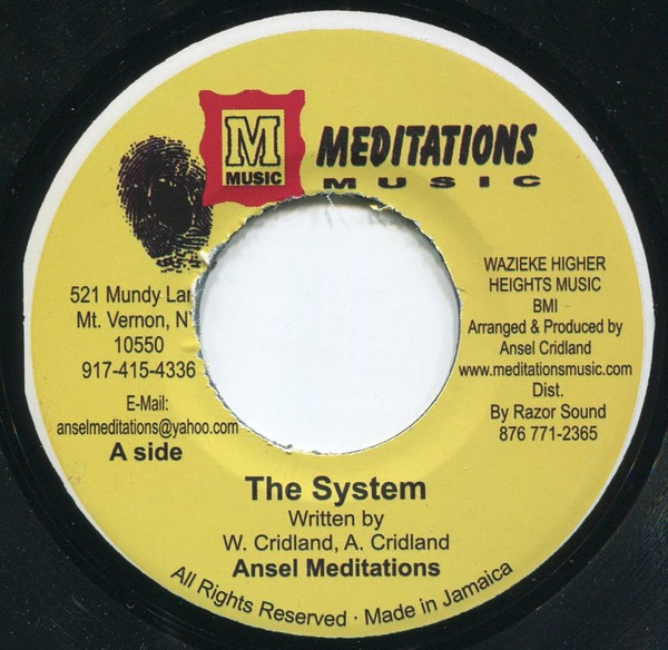 Ansel Meditation : The System   Single / 7inch / 45T     Oldies / Classics