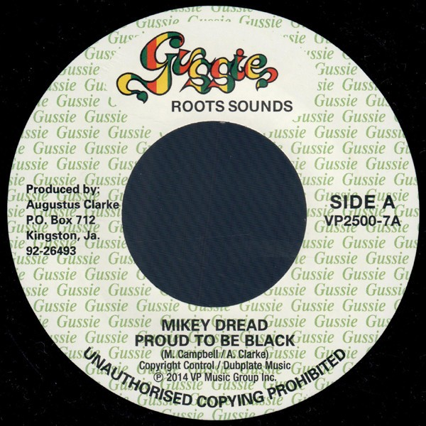 Mikey Dread : Proud To Be Black | Single / 7inch / 45T  |  Oldies / Classics