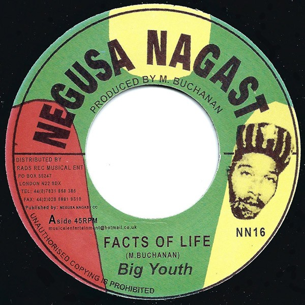 Big Youth : Facts Of Life | Single / 7inch / 45T  |  Oldies / Classics