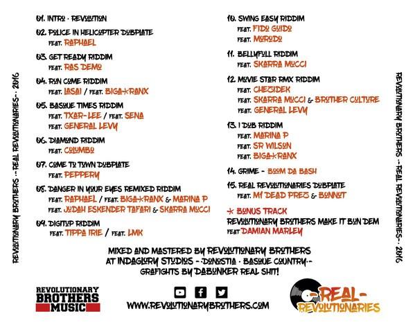 Revolutionary Brothers : Real Revolutionaries   CD     Dancehall / Nu-roots