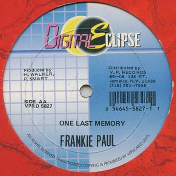 Frankie Paul : One Last Memory   Maxi / 10inch / 12inch     Dancehall / Nu-roots