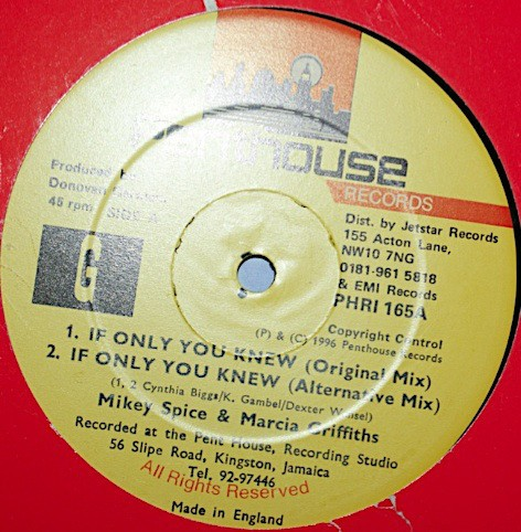 Mikey Spice & Marcia Griffiths : If I Only Knew | Maxi / 10inch / 12inch  |  Dancehall / Nu-roots
