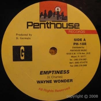 Wayne Wonder : Emptiness | Maxi / 10inch / 12inch  |  Dancehall / Nu-roots