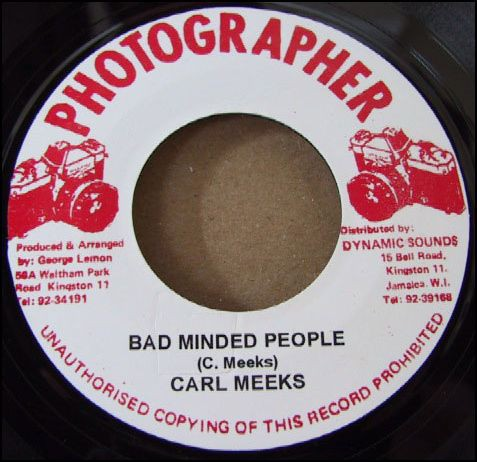 Carl Meeks : Bad Minded People | Single / 7inch / 45T  |  Oldies / Classics