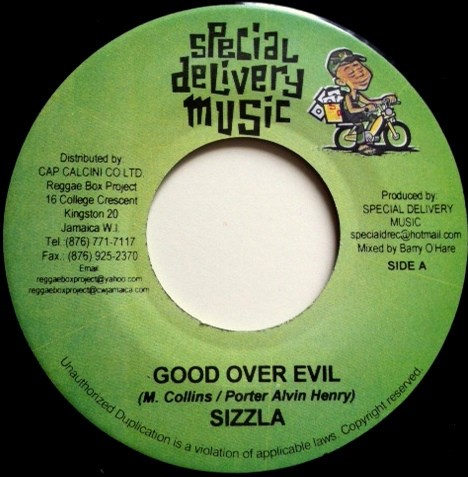 Sizzla : Good Over Evil | Single / 7inch / 45T  |  Dancehall / Nu-roots
