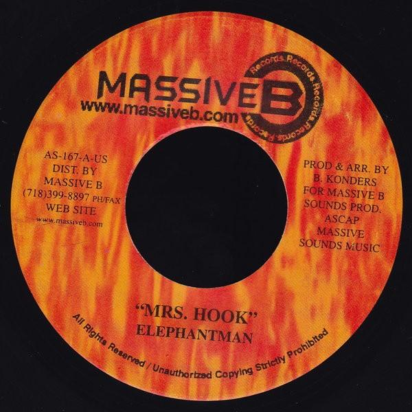 Elephant Man : Mrs. Hook | Single / 7inch / 45T  |  Dancehall / Nu-roots