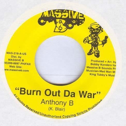 Anthony B : Burn Out Da War | Single / 7inch / 45T  |  Dancehall / Nu-roots
