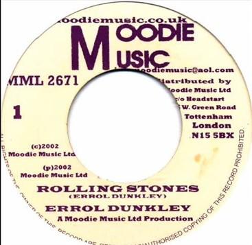Errol Dunkley : Rolling Stones   Single / 7inch / 45T     Oldies / Classics