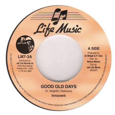 Innocent : Good Old Days | Single / 7inch / 45T  |  Oldies / Classics