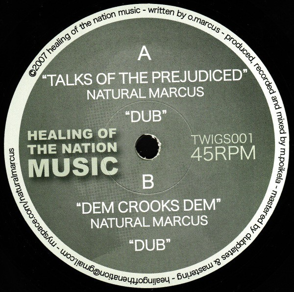 Natural Marcus : Talks Of The Prejudiced   Maxi / 10inch / 12inch     UK