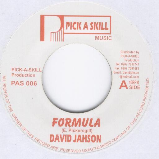 David Jahson : Formula   Single / 7inch / 45T     Dancehall / Nu-roots
